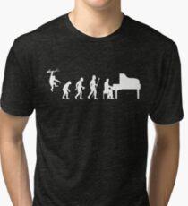 Funny Piano Evolution Tri-blend T-Shirt