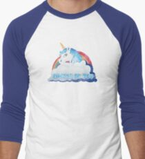 Central Intelligence - Unicorn (Faded as worn in the film) Bob Stone Men's Baseball ¾ T-Shirt