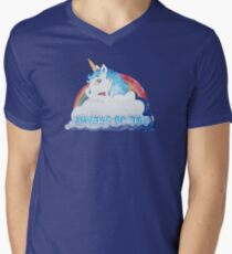 Central Intelligence - Unicorn (Faded as worn in the film) Bob Stone Men's V-Neck T-Shirt