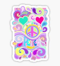 Psychedelic Hippy Retro Peace Art Sticker