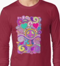 Psychedelic Hippy Retro Peace Art Long Sleeve T-Shirt