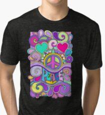 Psychedelic Hippy Retro Peace Art Tri-blend T-Shirt