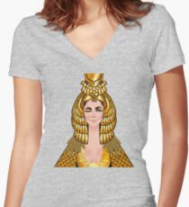 A wink & a smile Women's Fitted V-Neck T-Shirt