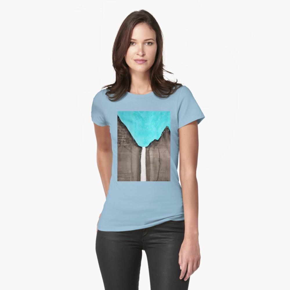 Original Gemälde von Bridalveil Fall Tailliertes T-Shirt