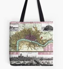 London - England - 1740 Tote Bag