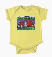 J C 1931 Fishing in Red One Piece - Short Sleeve