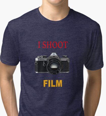 Disparo de cine Camiseta de tejido mixto