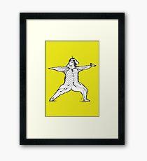 Yogi bear pose - Warrior 2  Framed Print