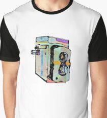 Water Colour Vintage Camera Graphic T-Shirt
