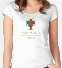 Portugal Euro 2016 Champions T-Shirts etc. ID-DTG3 Women's Fitted Scoop T-Shirt