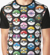 Pokemon Pokeball Black Graphic T-Shirt
