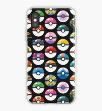 Pokemon Pokeball Black iPhone Case