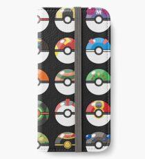Pokemon Pokeball Schwarz iPhone Flip-Case/Hülle/Klebefolie