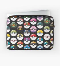 Pokemon Pokeball Black Laptop Sleeve