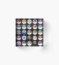 Pokemon Pokeball Black Acrylic Block