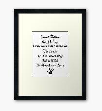 Skyrim Dark Brotherhood Black Sacrament  Framed Print