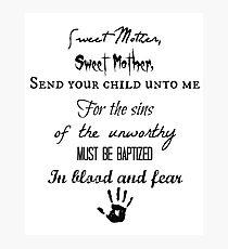 Skyrim Dark Brotherhood Black Sacrament  Photographic Print