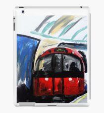 London Underground Piccadilly Line Tube Station Contemporary Acrylic Painting iPad Case/Skin