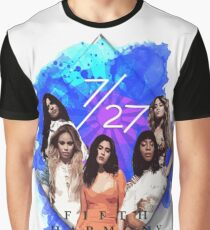 Fifth Harmony 7/27 Blue Graphic T-Shirt