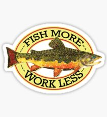 Humorous Fishing Sticker