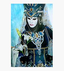 Carnival of Venice: Blue dreams  Photographic Print