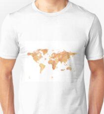 World map stone watercolor T-Shirt