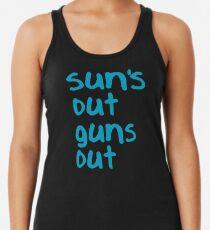 Sun's Out Guns Out - 22 Jump Street Racerback Tank Top