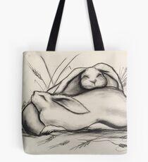 Sleeping Rabbits Tote Bag