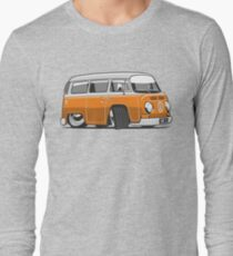 VW T2 Microbus cartoon orange Long Sleeve T-Shirt