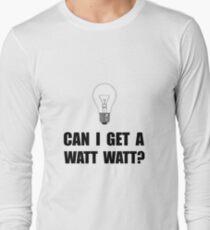 Watt Watt Light Bulb Long Sleeve T-Shirt