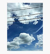 Blue Clouds Photographic Print