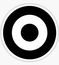 Black & White Mod Roundel Sticker
