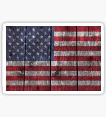 """Old Glory"" on wood Sticker"