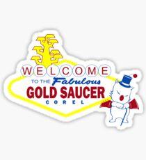 Fabulous Gold Saucer Alternate Sticker