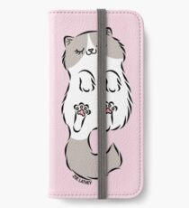 Fluffy Cat Sleeping iPhone Wallet