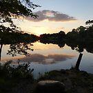 Sunset on Greenbelt Lake by nealbarnett