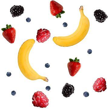 berries & bananas by auroraflorealis