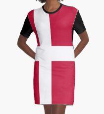 Denmark- Danish Flag Graphic T-Shirt Dress