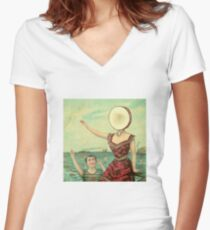 Aeroplane Over the Sea Women's Fitted V-Neck T-Shirt