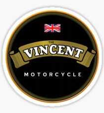 Vincent Vintage Motorcycles England Sticker