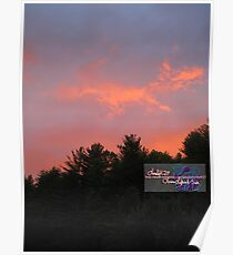 peachy spring sunset  ll Poster