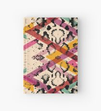 Colourful Snake Skin Texture Hardcover Journal