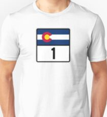 Colorado State Highway 1 T Shirt