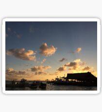Sunset at Boca Chica Sticker
