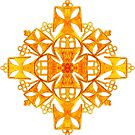Ethiopian Cross 4. Gold by Ethiohahu