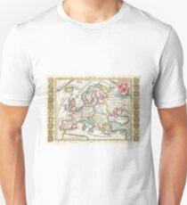 Vintage Map of Europe (1706) T-Shirt