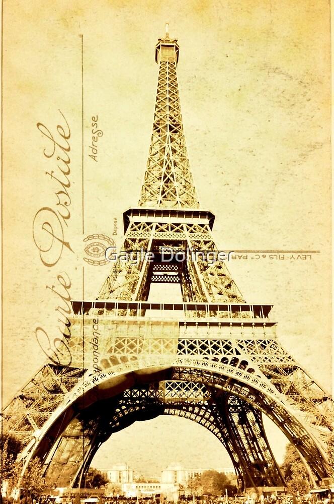 Eiffel Carte Postale by Gayle Dolinger