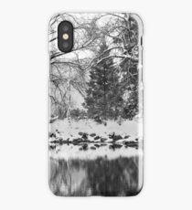 Refelected Winter scenery in Yosemite, California iPhone Case/Skin