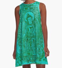 The Enlightened | Turquoise  A-Line Dress