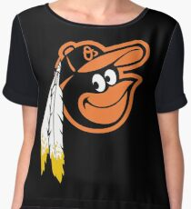 Redskins Orioles Women's Chiffon Top